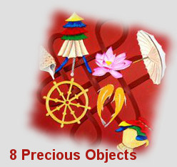 Eight Precious Objects for personal development, intelligence and spirituality