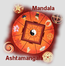 mandala ashtamangala for vitality and spirituality